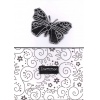 Black and White Butterfly Wedding Invitation